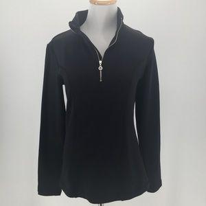 Nils Half Zip Pullover 8201 Sz Small S Black MINT